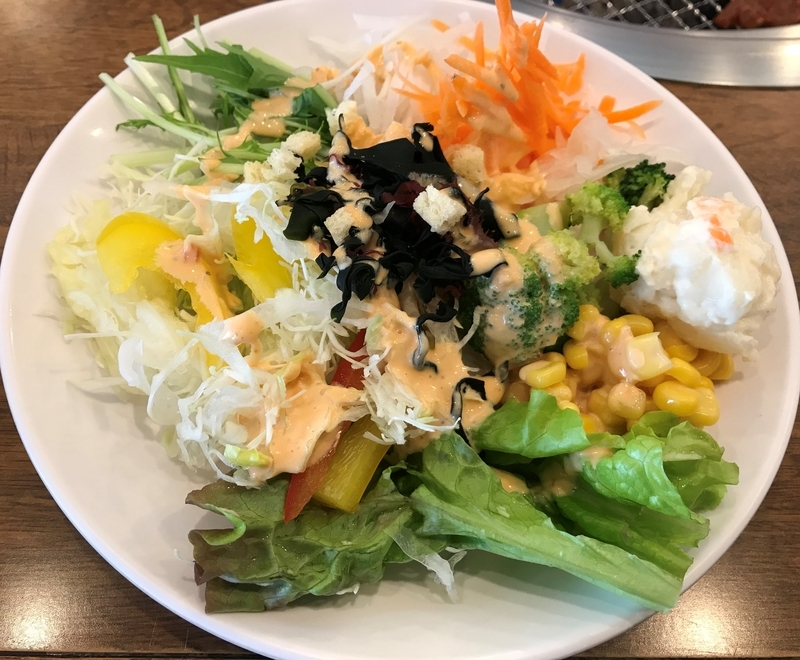 すたみな太郎の野菜サラダ