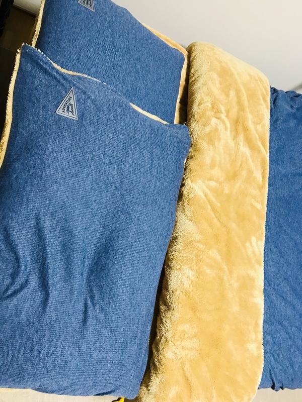 【ニトリ】リブボアの枕.掛敷布団カバー