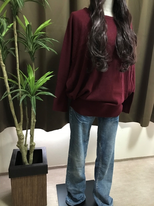 【楽天】ドルマンスリーブニットセーター