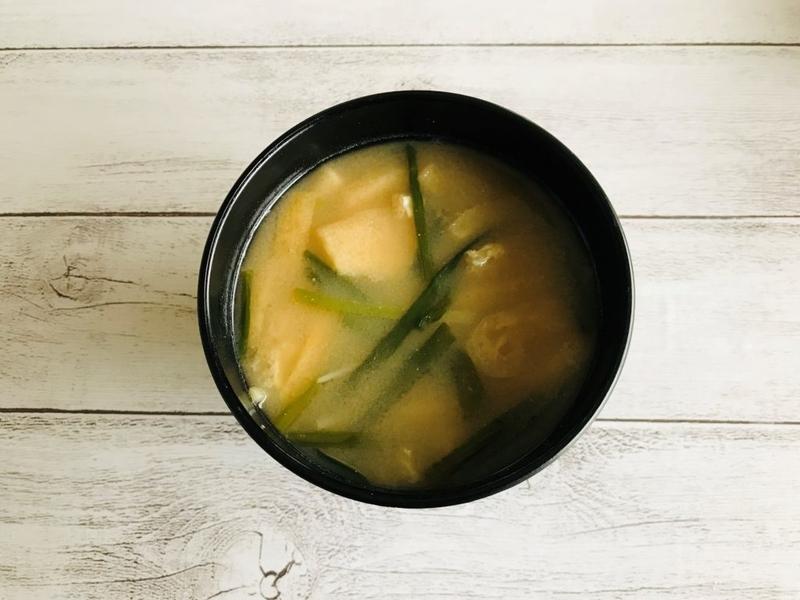 アサツキの味噌汁