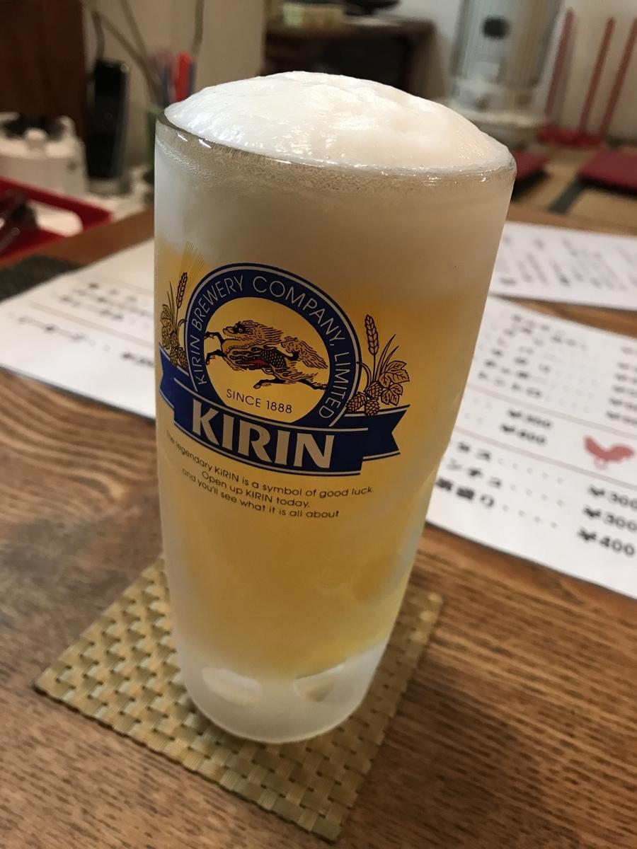 むつ市アジトの生ビール