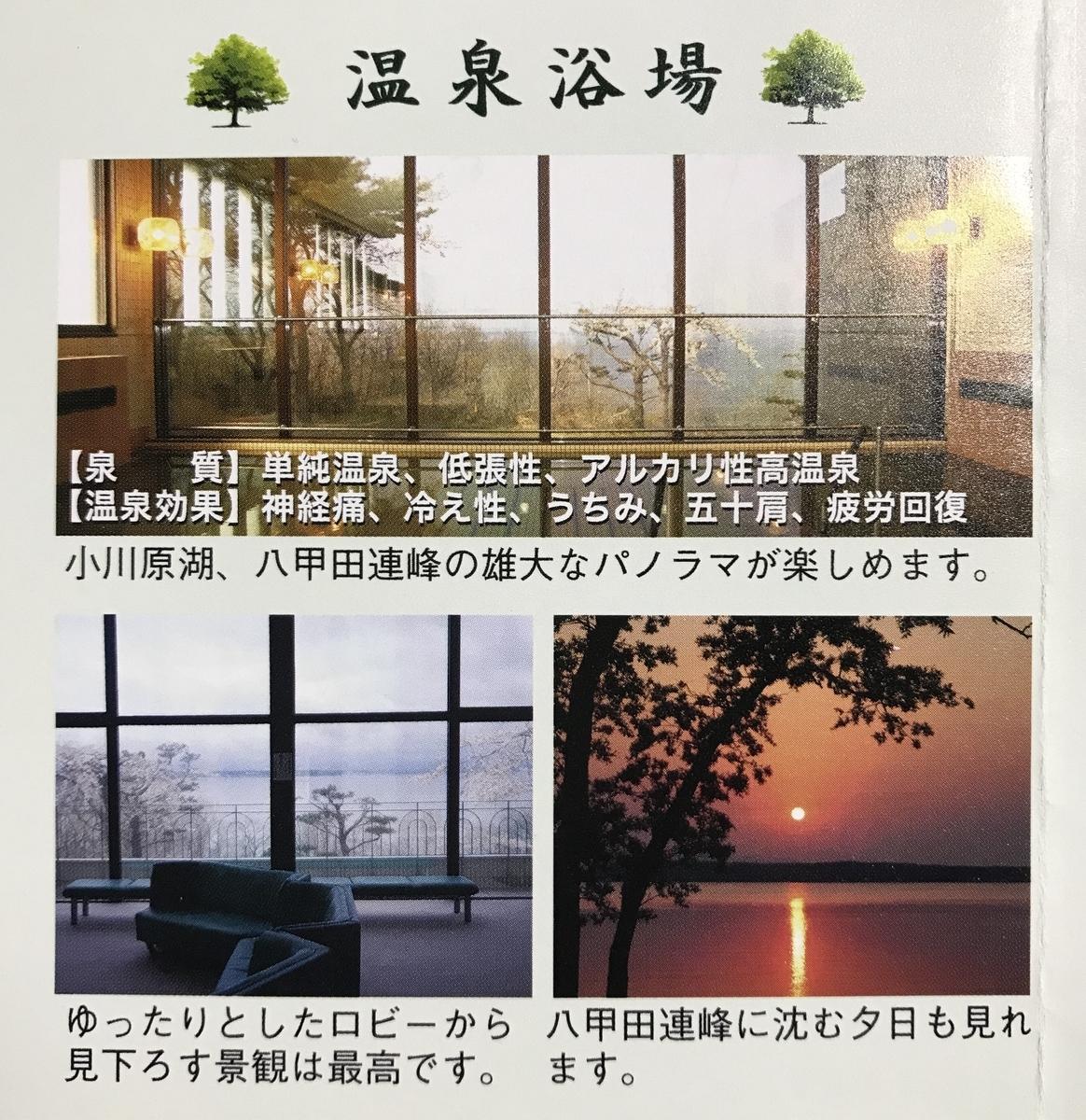 三沢市民の森の温泉パンフレット