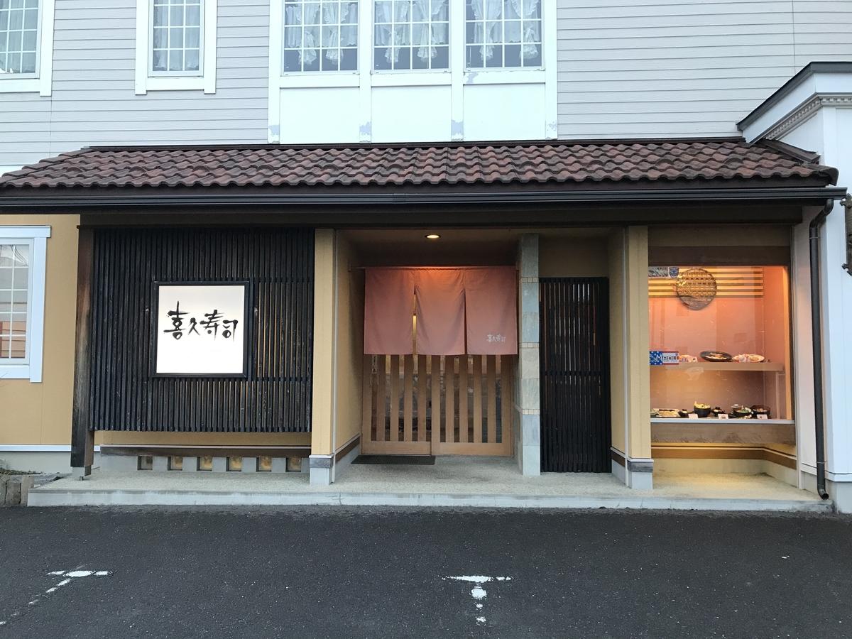 三沢市、喜久寿司の外観