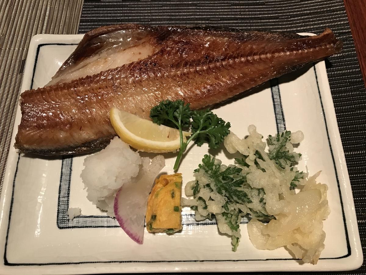 十和田市、鳥十の焼き魚しまほっけ