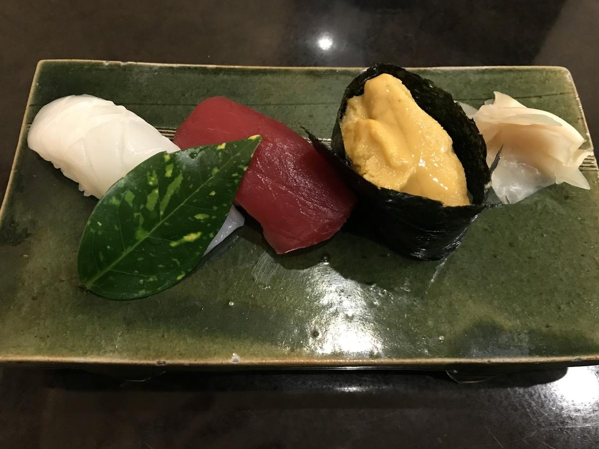 むつ市、金寿司のお好みにぎり