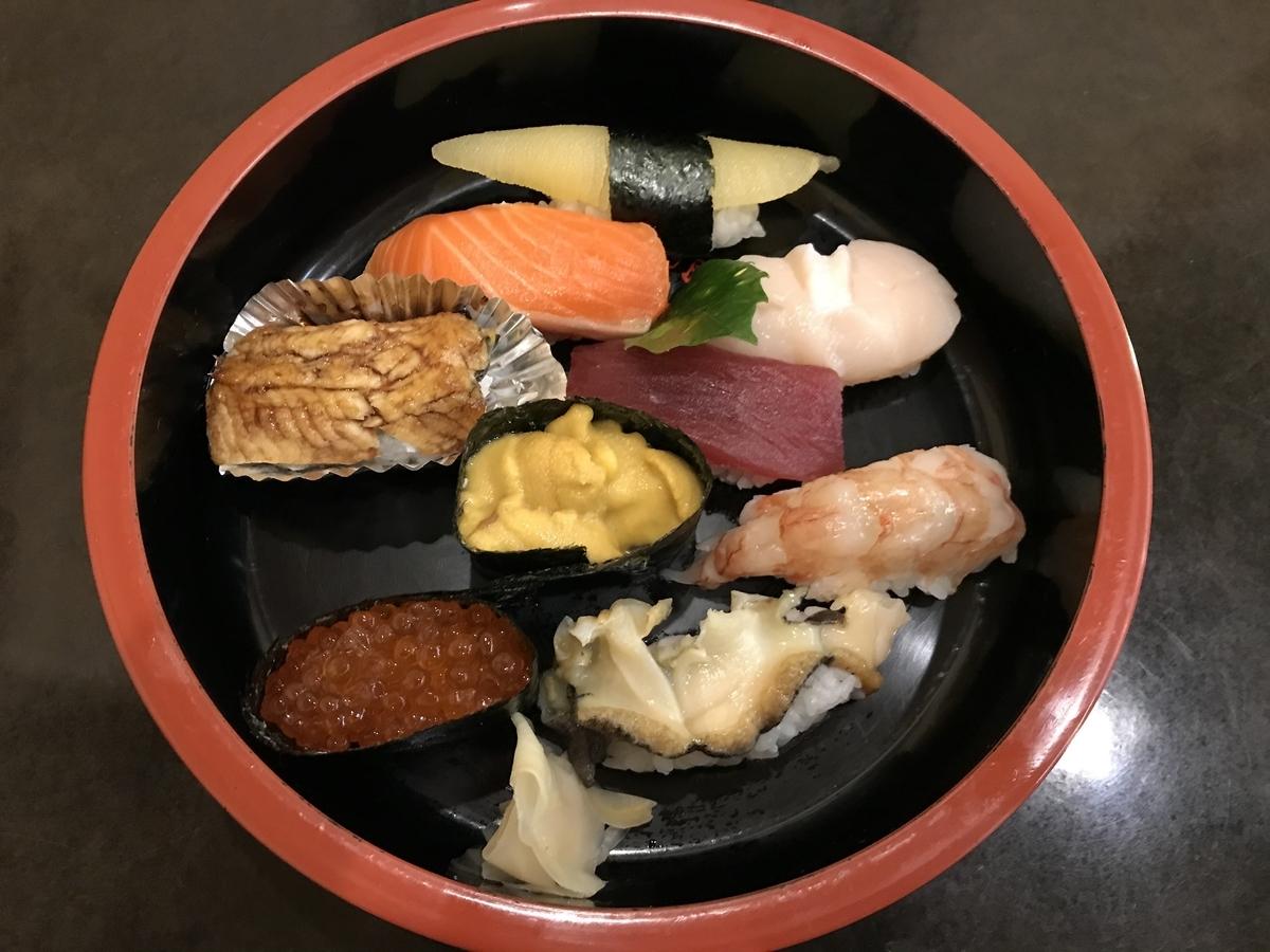 むつ市、金寿司の特上