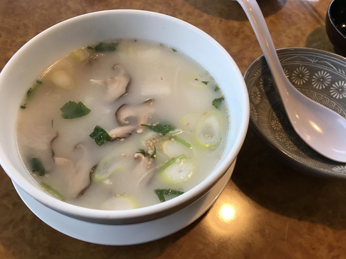一心亭のコムタンスープ(牛テール)