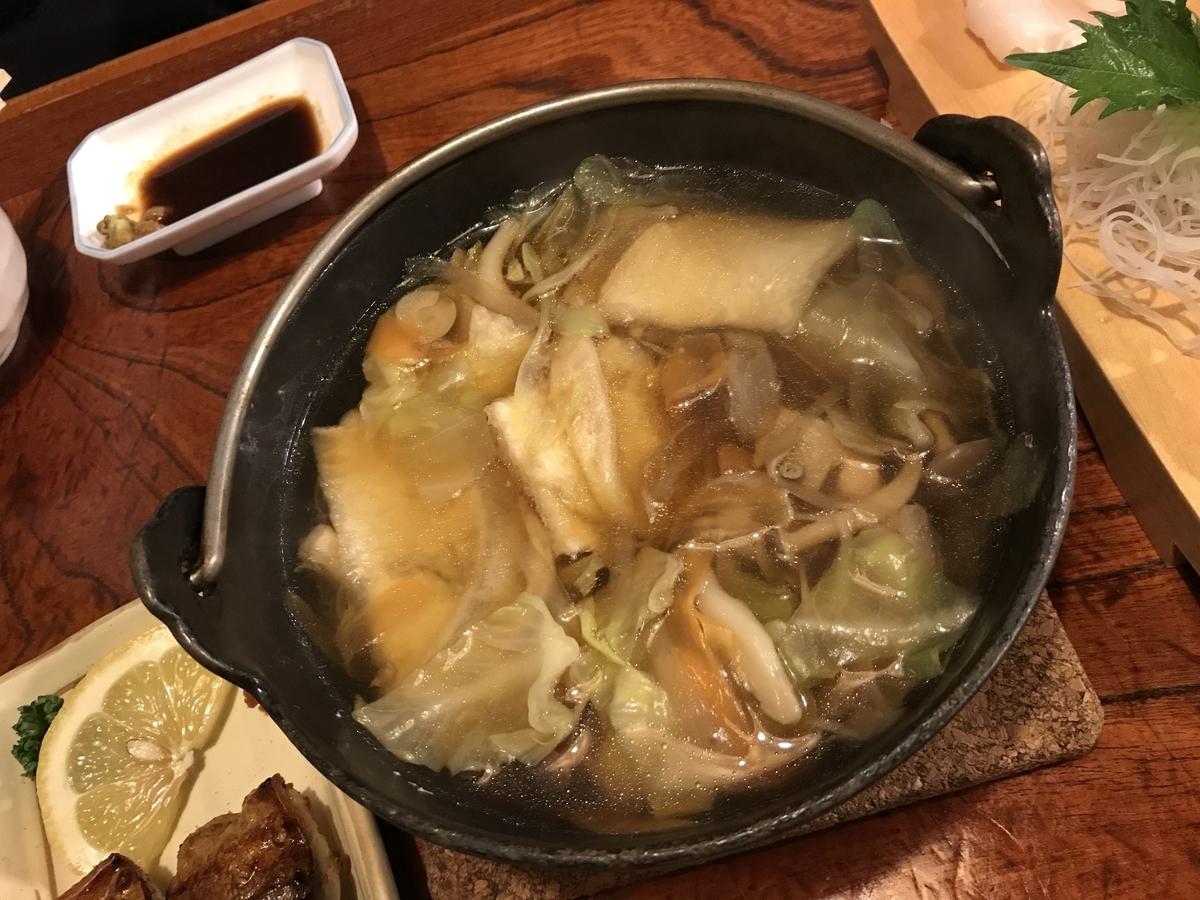 八戸市、ろくもんせんの八戸せんべい汁鍋