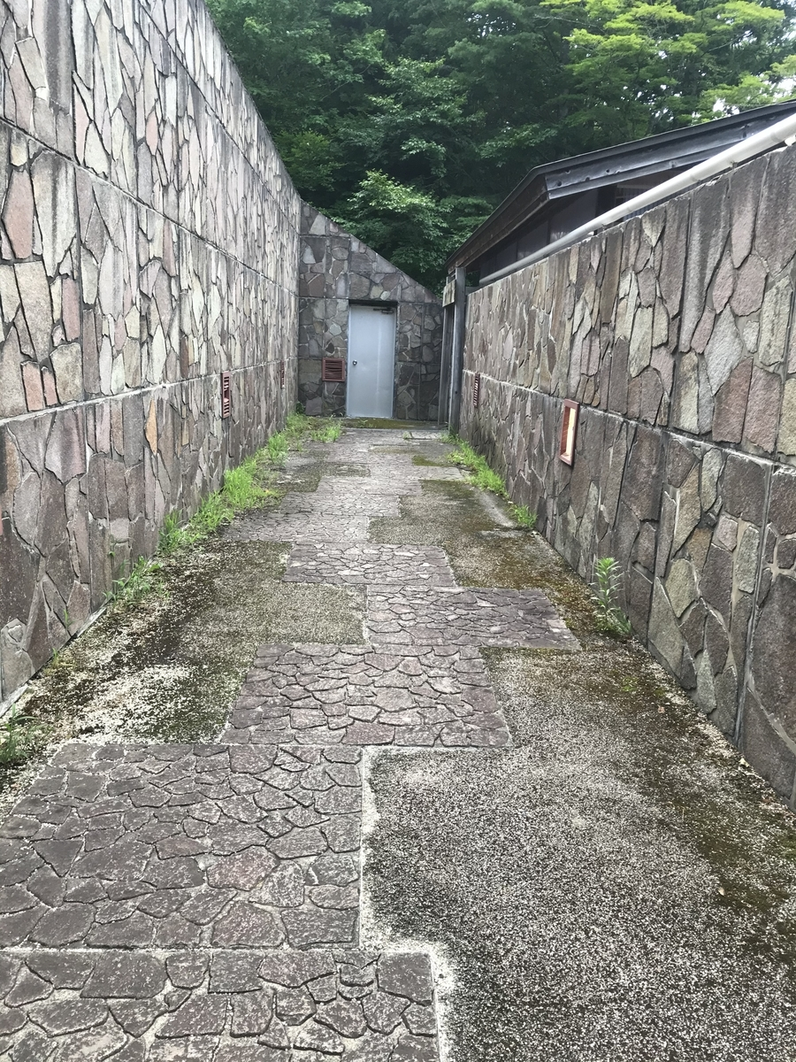 大畑町、夫婦かっぱの湯への通り道