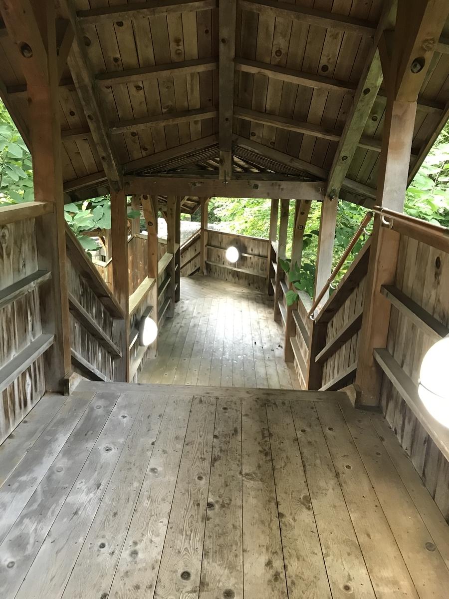 大畑町、夫婦かっぱの湯に向かう階段