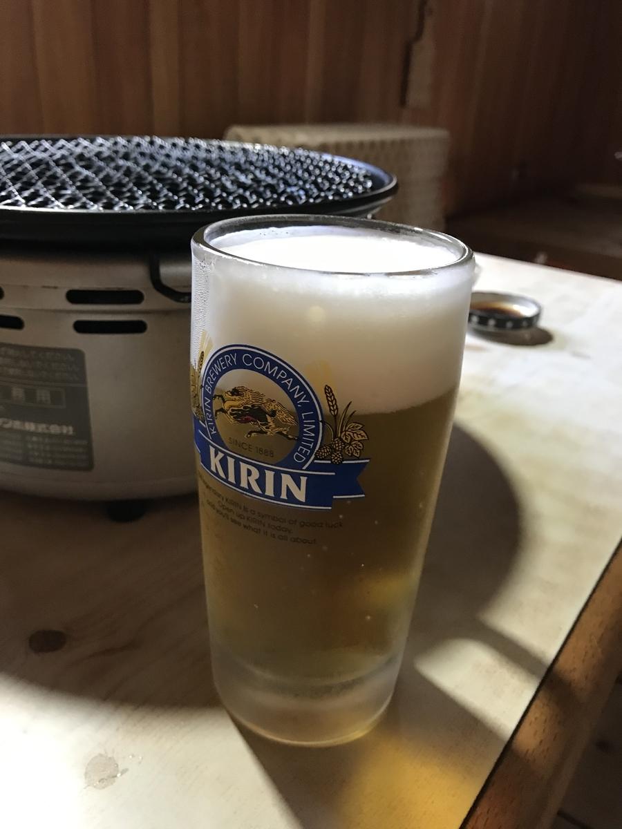 むつ市、山道園の生ビール