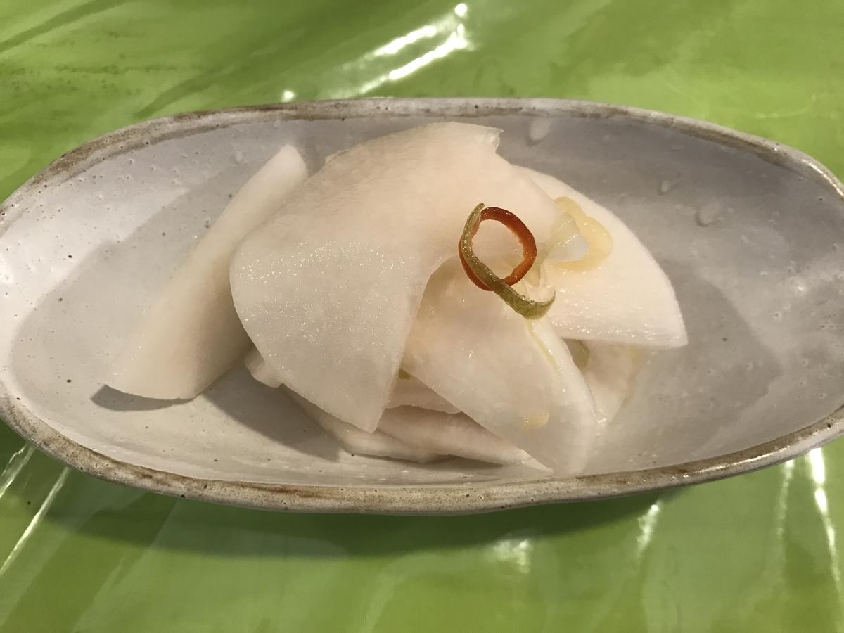 十和田市、司バラ焼大衆食堂の十和田産野菜の漬物
