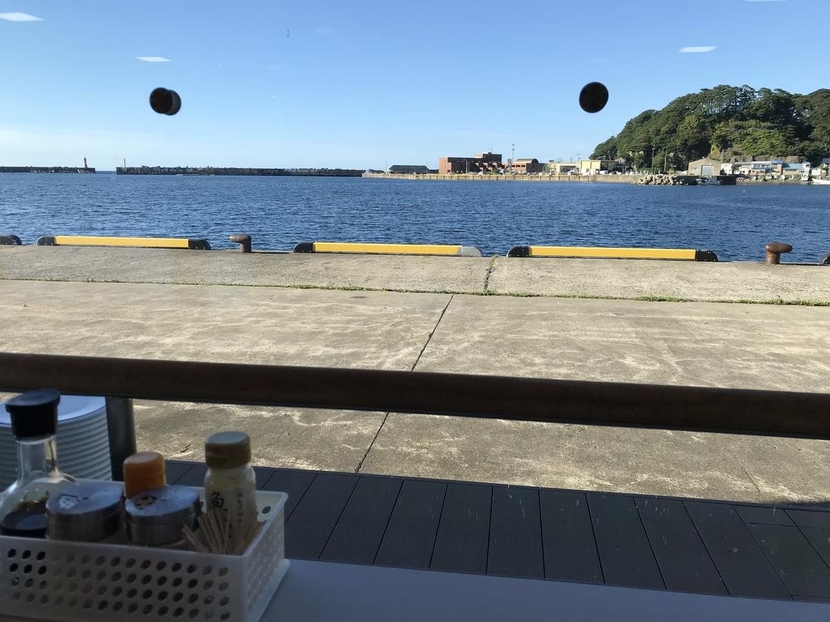 海の駅ふかうら、食堂からの絶景