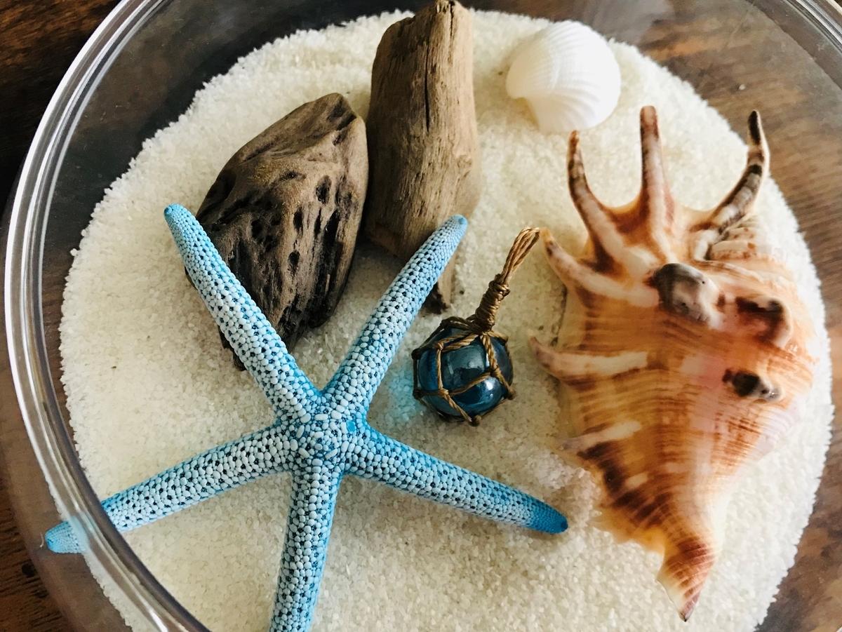 ミニ浮き玉キーホルダーのインテリア