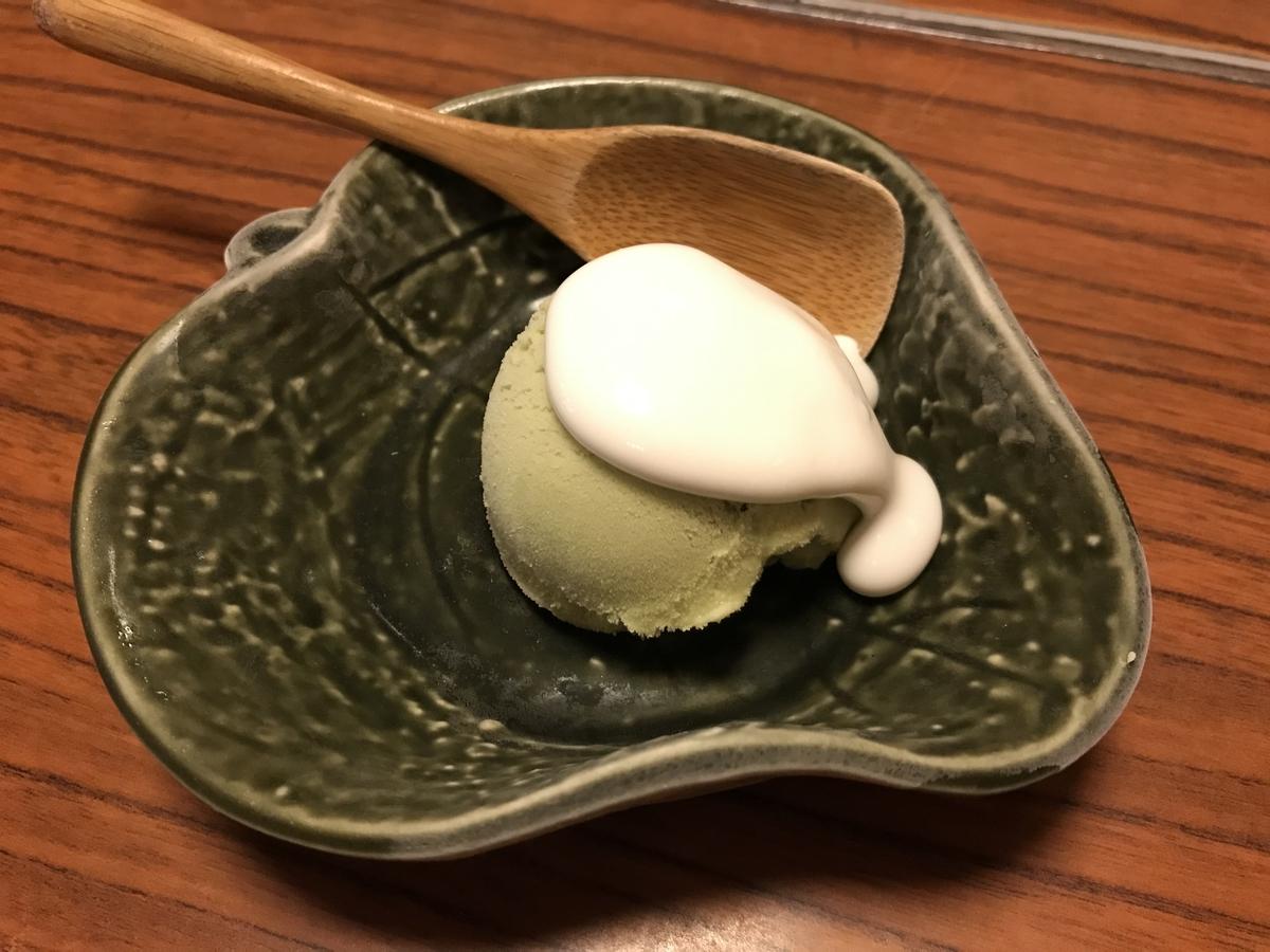黒石市、蔵よし特製手作り抹茶アイス