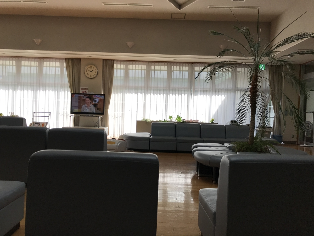 東津軽郡平内町、よごしやま温泉の休憩室
