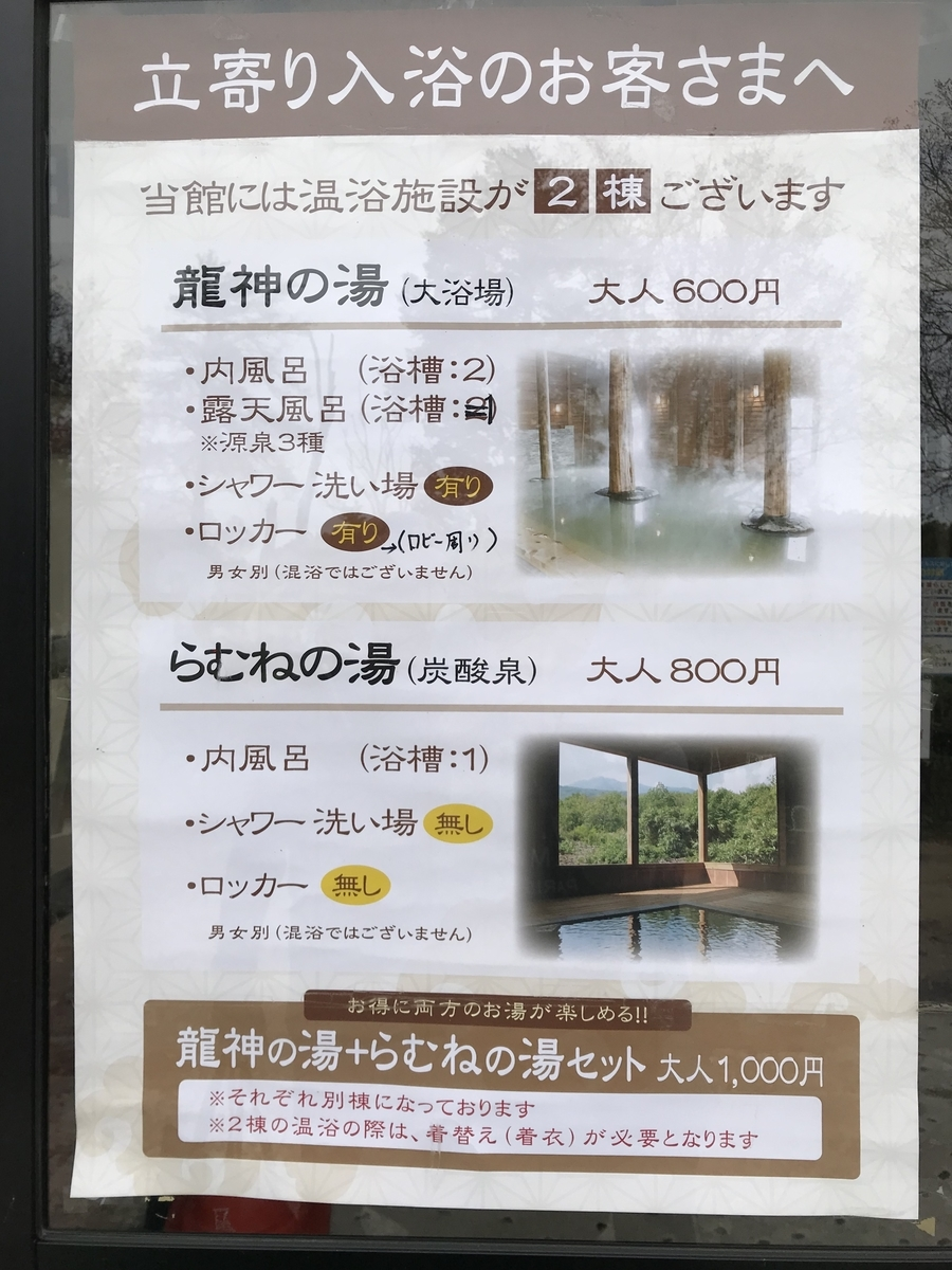 青森市、八甲田温泉の日帰り入浴料金