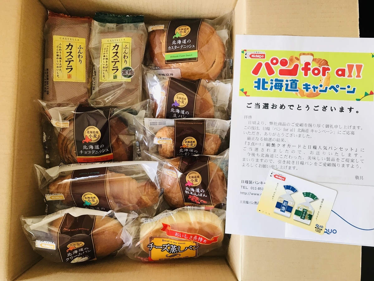2020年、日糧製パンの当選品