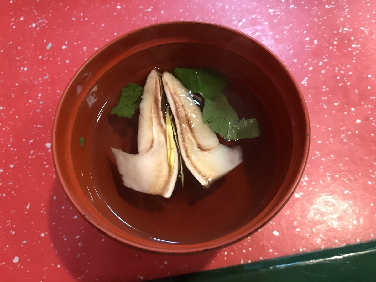 むつ市、ありあけの松茸のお吸い物