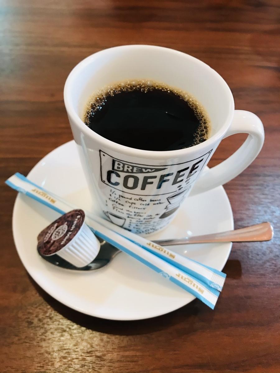 むつ市、シャボヌールのホットコーヒー