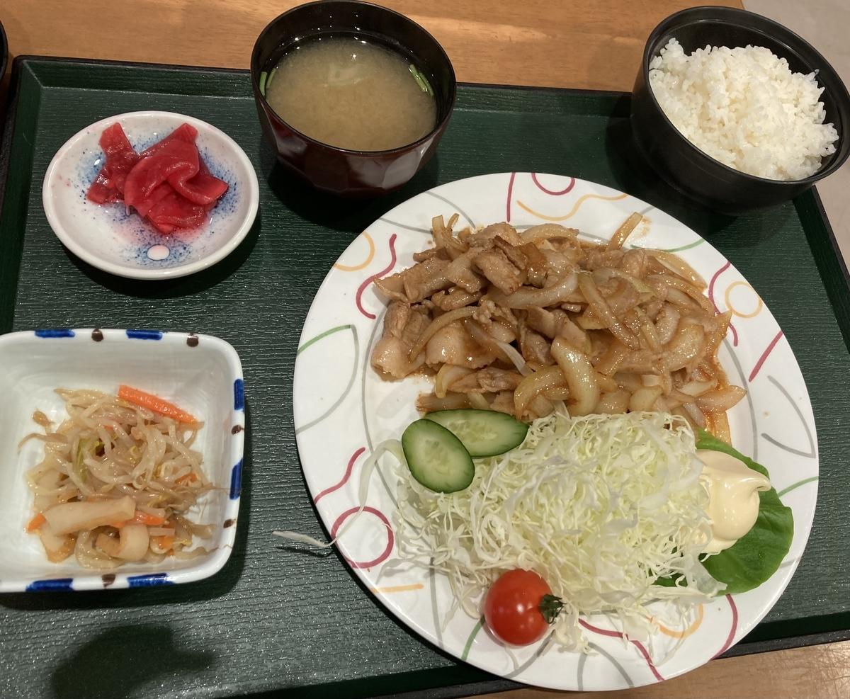 川内町スパウッド観光ホテルのレストランの定食