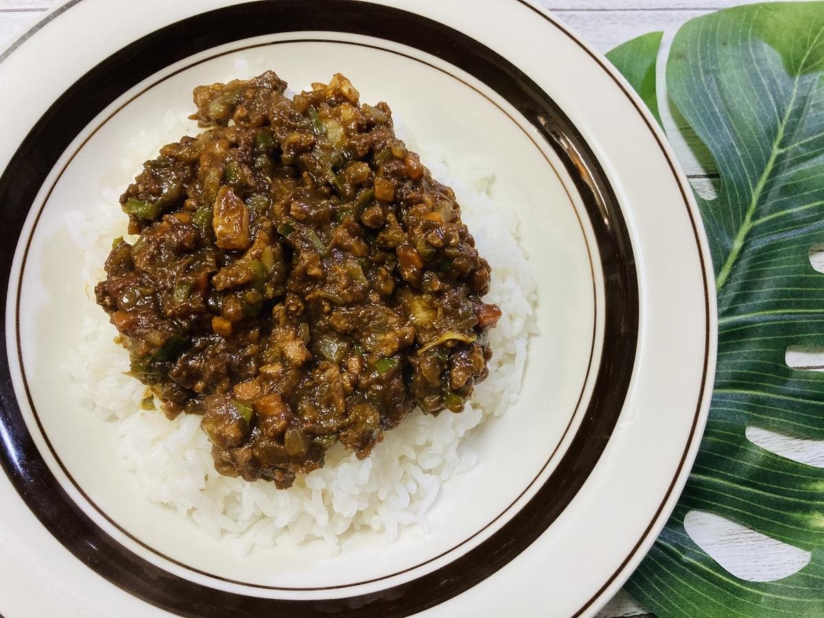 大豆のお肉を使ったキーマカレー