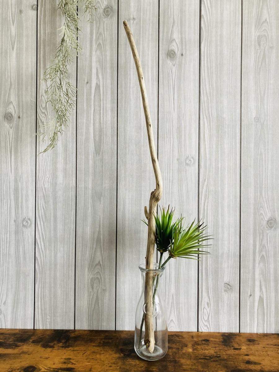 流木とダイソーのフェイクグリーン