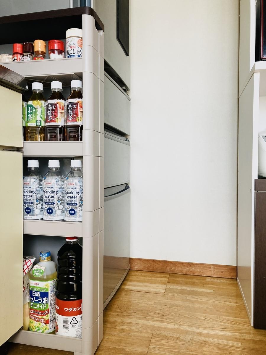 キッチンの隙間収納、スマートワゴンFit