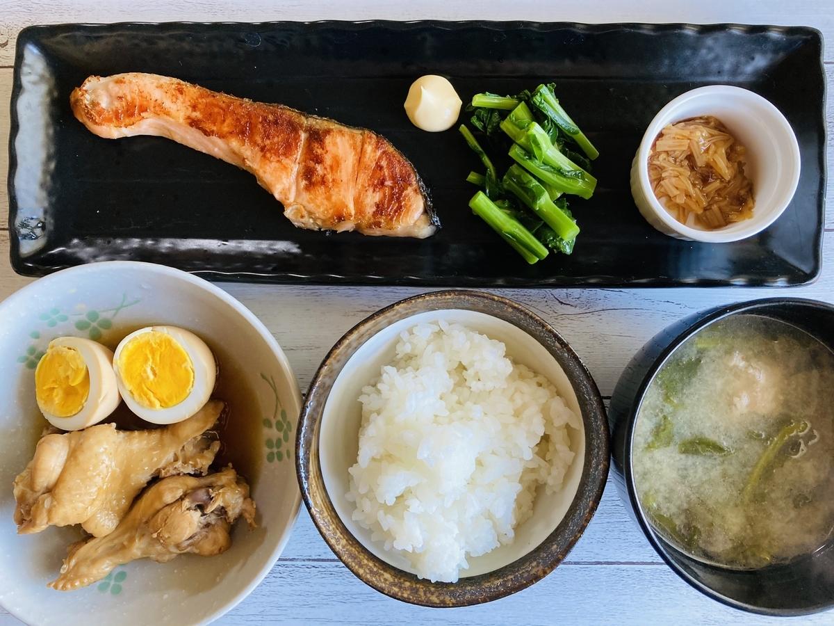 鶏の手羽先のさっぱり煮、盛り付け例