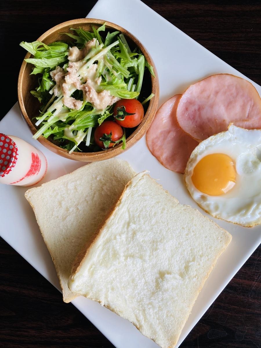 朝食パンプレートメニュー