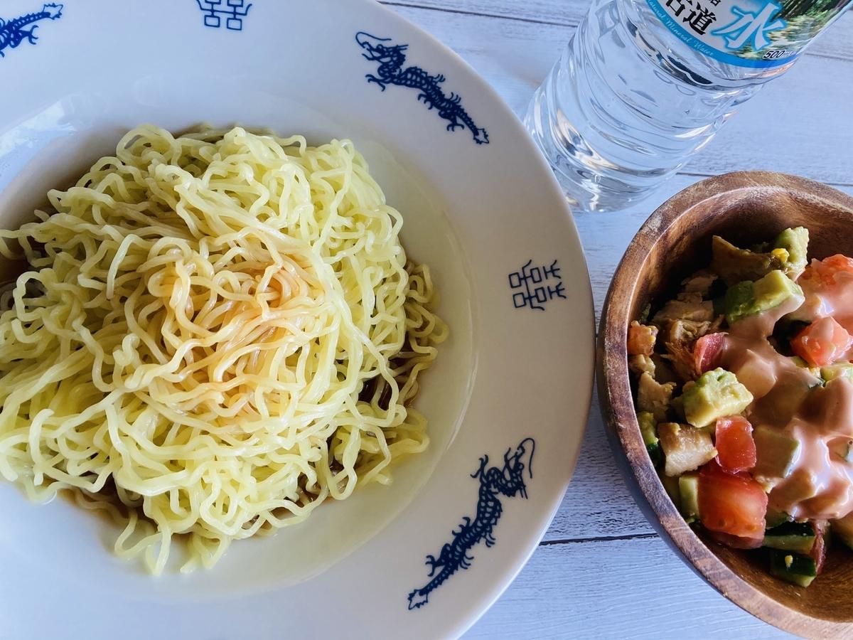 ざる中華とコブサラダ