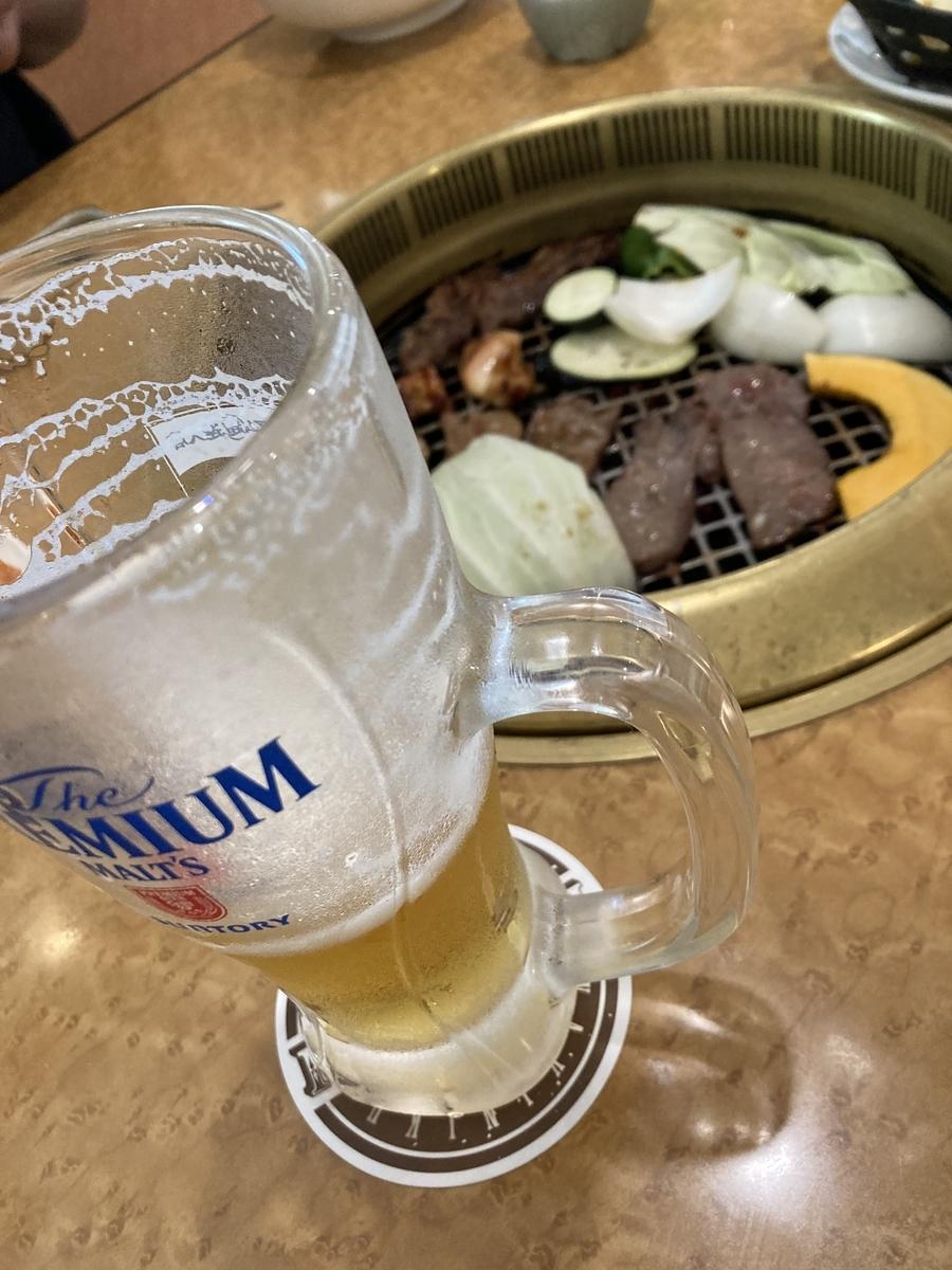 生ビールと焼肉