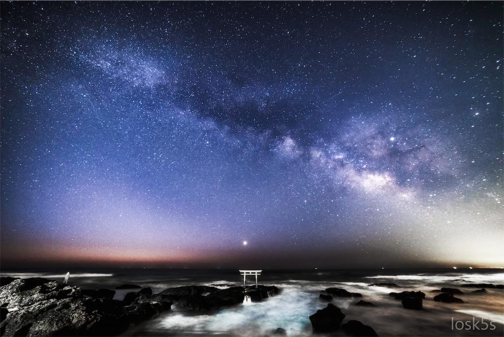 茨城県 神磯の鳥居 と スターリンク(Starlink)衛星について