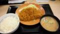 [夕食] 9/16 ロースカツ定食@かつや