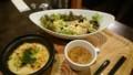 [夕食] 9/27 サラダプレート(枝豆とバジルのハーフドリアとサーモンサラダ)@元