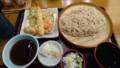 [夕食]12/3 海老野菜天そば@天丼てんや