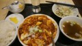 [夕食]3/4 麻婆豆腐定食@観行雲
