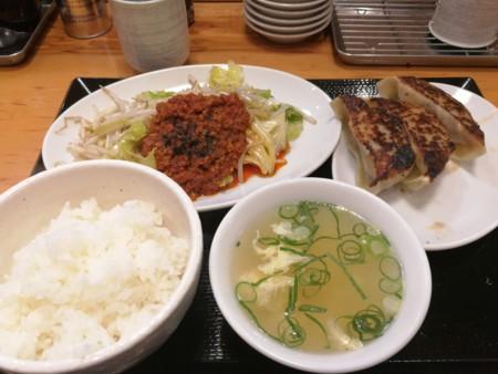 2/10 夜 野菜炒め定食@台湾ぎょうざ