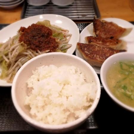 2/20 夜 野菜炒め定食@台湾ぎょうざ
