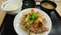 3/4 夜 豚肉とたっぷり冬野菜炒め定食@松屋