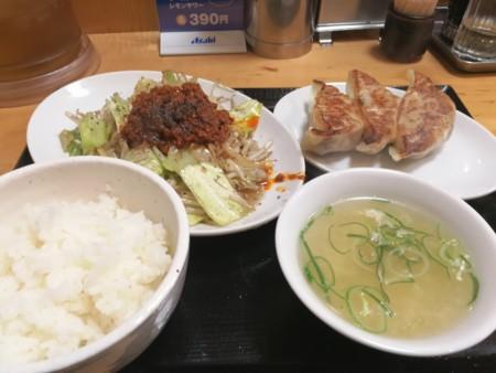 2017/03/23 夜 野菜炒め定食@台湾ぎょうざ