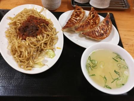 2017/04/27 夜 台湾焼きそばと餃子定食@台湾ぎょうざ