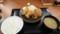 2017/6/7 夜 トムヤムから揚げの相盛り定食@からやま