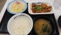 2017/8/29 夜 鶏のバター醤油炒め定食@松屋