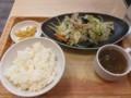 2017/08/30 夜 肉野菜炒め定食@オリジン東秀