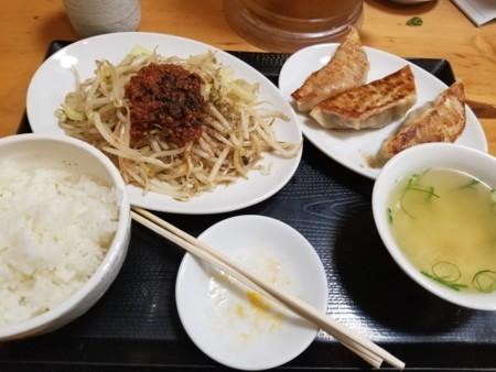 2017/10/12 夜 野菜炒め定食@台湾ぎょうざ