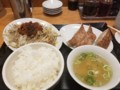 2017/12/25 夜 野菜炒め定食@台湾ぎょうざ