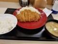 2018/01/16 夜 ロースカツ定食@かつや