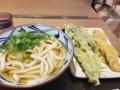 2018/01/29 昼 かけうどんと菜の花天、かしわ天@丸亀製麺