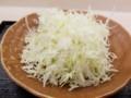 2018/02/09 夜 カツ丼(梅)と千切りキャベツ